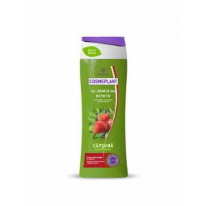 Viorica Gel-Crema dus Nutritiv Capsuna Cosmeplant 400 ml RN
