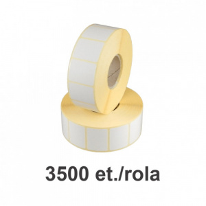 ZINTA Role etichete semilucioase 32x10mm, 3500 et./rola - 32X10X3500-SGP