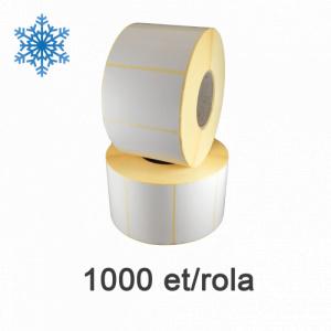 ZINTA Role etichete termice 73x51mm, Top Thermal, pentru congelate, 800 et./rola - 73X51X800-TTH-DF