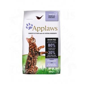 Applaws Hrană uscată pentru pisici adulte cu pui și rață 2 kg