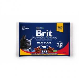 Brit Premium Cat Multipack Felii de Carne 4 x 100 g