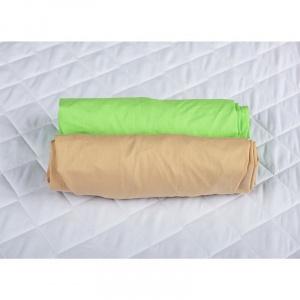 BabyNeeds Set 2 cearceafuri cu elastic 140x70 cm Cappuccino+Verde