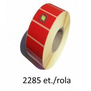 ZINTA Role etichete termice rosii 50x15mm, 2285 et./rola - 50X15X2285-TH-RED