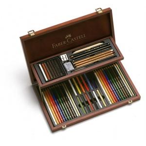 Faber-Castell ART&GRAPHIC COMPENDIUM 54 BUC CUTIE LEMN 110088