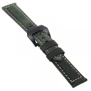 Very Dream Curea piele naturala  compatibila LG G Watch Urbane W150, Telescoape QR, 22mm, Verde