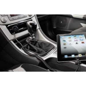 HAMA Car Charger for Apple iPad, 30 pins, 5 V/2.1 A, black 106301