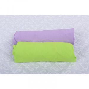 BabyNeeds Set 2 cearceafuri cu elastic 140x70 cm Lila+Verde
