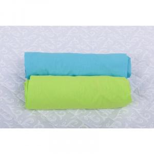BabyNeeds Set 2 cearceafuri cu elastic 140x70 cm Bleu+Verde