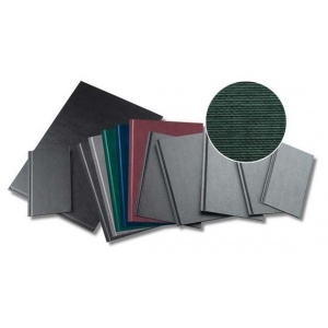 Opus Coperti rigide A4, structura panzata, 20 buc/set, Metal-BIND Classic Slim - albastru