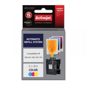 ActiveJet Sistem Kit automat de refill color pentru HP 650 HP 703 HP 704