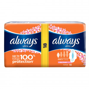 Always Absorbante Ultra Fresh Duo, 18 buc