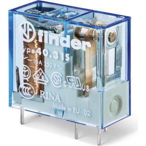 Finder Releu miniaturizat, implantabil, 3.5mm între pinii contactului, bobină standard (650mW),  5Vc.c., 403190050300