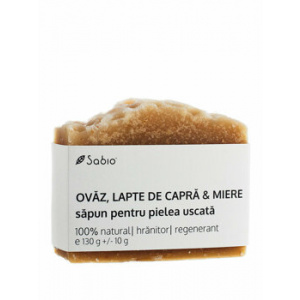 Sabio Sapun natural cu Ovaz, Lapte de Capra & Miere (piele uscata), 130 g