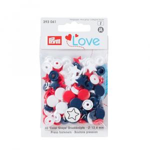 Prym Capse plastic/30 buc/ 12.4 mm/ cod 393006, colectia Love 393006