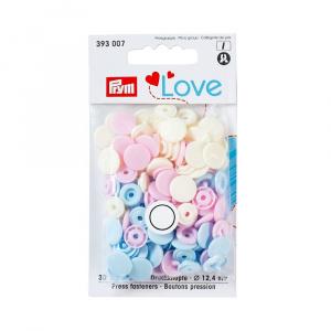 Prym Capse plastic/30 buc/ 12.4 mm/ cod 393007, colectia Love 393007