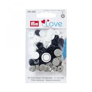 Prym Capse plastic/30 buc/ 12.4 mm / cod 393008, colectia Love 393008