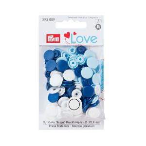 Prym Capse plastic/30 buc/ 12.4 mm/ cod 393009, colectia Love 393009