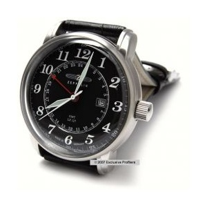 Zeppelin 7642-2 GMT Collection LZ 127 DIAL BLACK