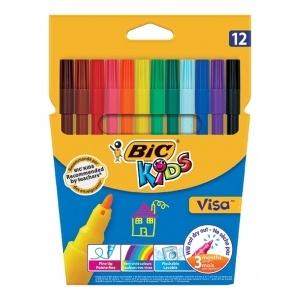 BIC Carioci lavabile 12 culori Visa Bic 888695