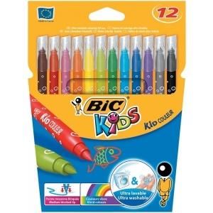 BIC Carioci 12 culori ultralavabile Kid Couleur 841798