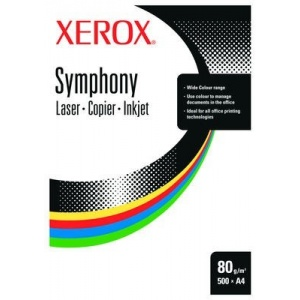 Xerox Hartie color A4, 80 g/mp, 5 x 100 coli/top, mix intens, Symphony