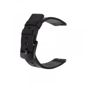 Very Dream Curea piele compatibila Huawei Watch GT 2 Pro, telescoape Quick Release, Negru