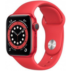 Apple Watch Series 6 40mm GPS Red Aluminum Case with Red Sport Band