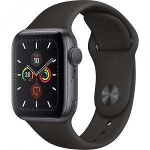 Apple Watch 5 GPS Aluminiu Negru 44MM Si Curea Sport Silicon Negru