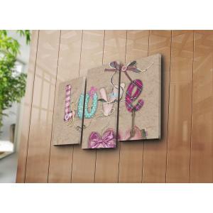 Bonanza Tablou decorativ pe panza, 242BNZ3237, 3 Piese