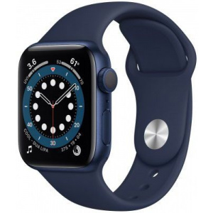 Apple Watch Series 6 44mm GPS Blue Aluminum Case with Deep Navy Sport Band