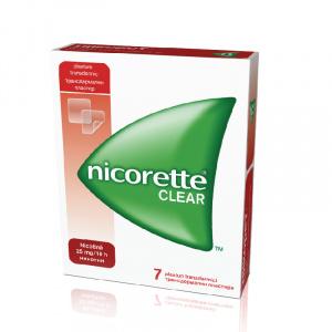 Johnson&Johnson Nicorette Clear 25mg, 7 plasturi