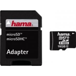 HAMA microSDHC 16GB Class10+Adapter Foto 4047443131577