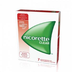 Johnson&Johnson Nicorette Clear 10mg, 7 plasturi