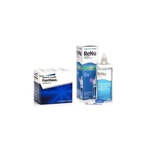 Bausch&Lomb PureVision (6 lentile) + ReNu MultiPlus 360 ml cu suport