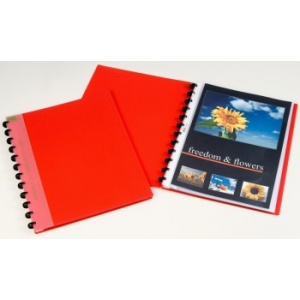 Aurora Dosar de prezentare cu 30 folii Adoc - coperta rosie 5832.600