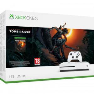Microsoft Consola Xbox One S 1TB  White   Joc Shadow of the Tomb Raider