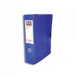 Skag Cutie arhivare, A4, 8 cm, plastic transparent, albastru