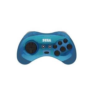 Retro-Bit Controller Arcade Pad Sega Saturn Wireless 2.4G M2 Blue Pc