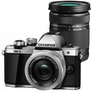 Olympus OM-D E-M10 Mark II Silver + M.ZUIKO DIGITAL 14‑42mm EZ Silver + 40‑150mm R Black (V207053SE000)