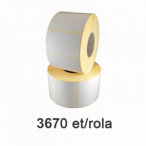 ZINTA Role etichete semilucioase 58x38mm, 3670 et./rola - 58X38X3670-SGP