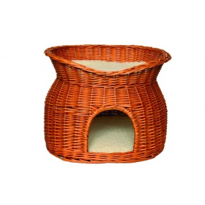 Trixie Wicker Cave with Bed on Top  2874