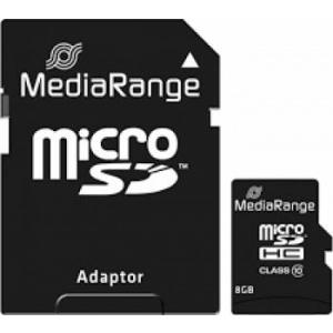 MediaRange microSDHC 8GB clasa 10 cu adaptor mr957