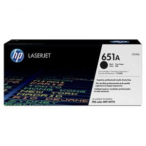 HP 651A Black LaserJet Toner Cartridge (CE340A)