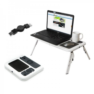 Apple Masa laptop E-Table, 2 ventilatoare, USB