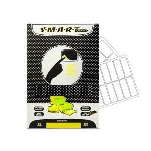 SMART labels Etichete albe autocolante mate colturi rotunjite 16/A4(95x25mm)