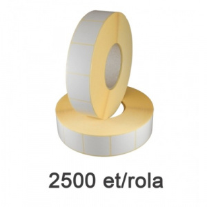 ZINTA Role etichete semilucioase 30x60mm, 2500 et./rola - 30X60X2500-SGP