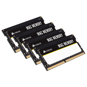 Corsair Mac Memory 64GB (4 x 16GB) DDR4 2666MHz C18 Memory Kit CMSA64GX4M4A2666C18
