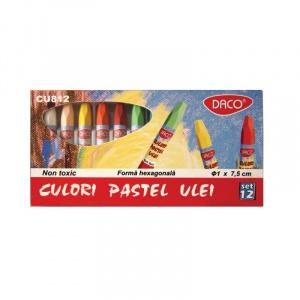 Daco Creioane color pastel ulei 12 culori