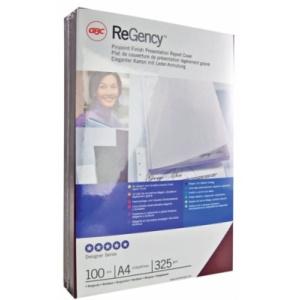 GBC Coperta carton ReGency™ pentru legare cu aspect de piele 325 g alb 100 buc/set ECE030070
