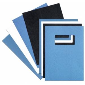 GBC Coperta carton pentru legare cu aspect de piele 250 g A4 albastru roial 100 buc/set ECE040029